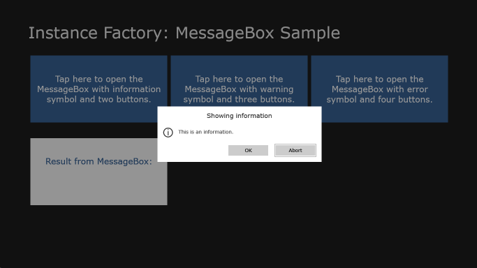 Information MessageBox