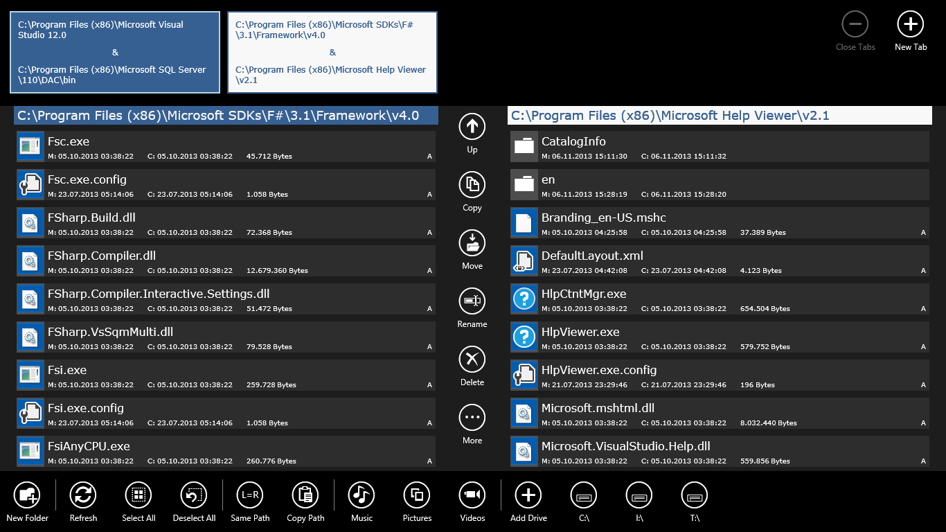 Factory File Manager Screenshot