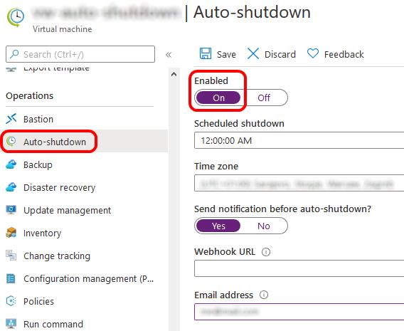Configure VM Auto-shutdown