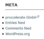 Meta widget link list